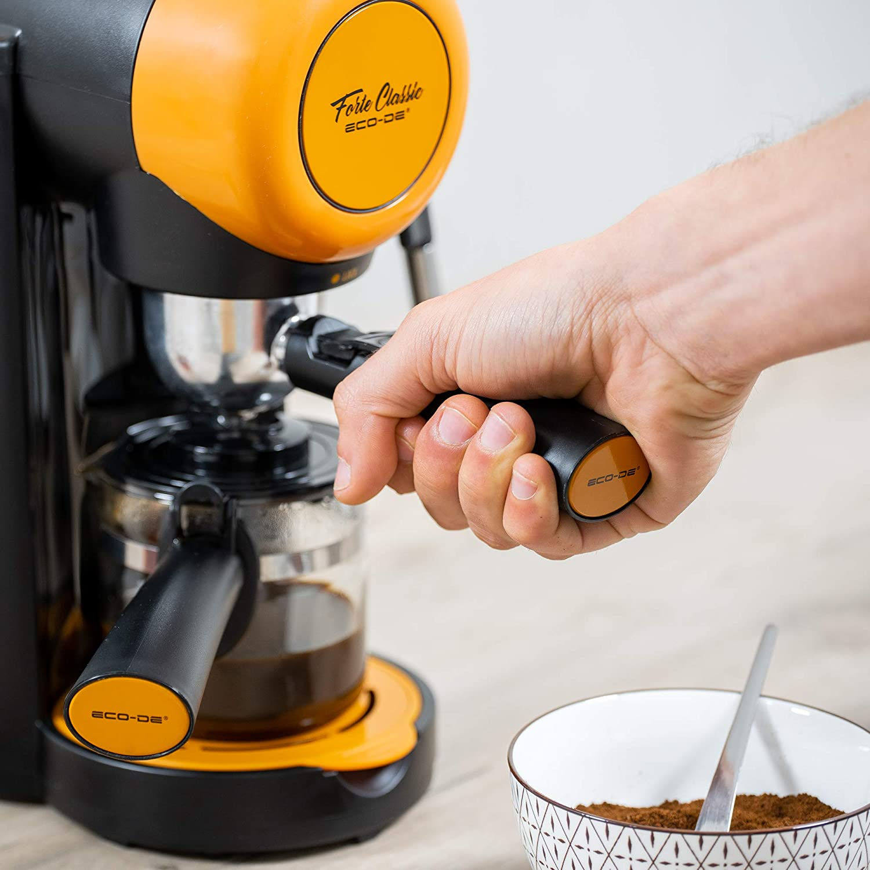 Ecode Forte Classic Espressokocher Latte Zerst/äuber verstellbar 5 Bar Krug f/ür 2 oder 4 Personen 800 W Kaffeemaschine ECO-405 Capuccino