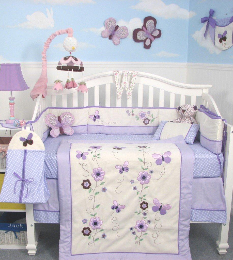 Lavender Nursery Amazoncom Soho Lavender Flower Garden Baby Crib Nursery Bedding