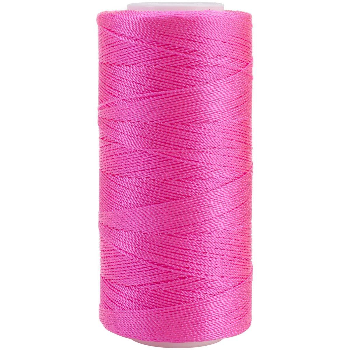 Iris 2-416 Nylon Crochet Thread, 300-Yard, Bright Pink