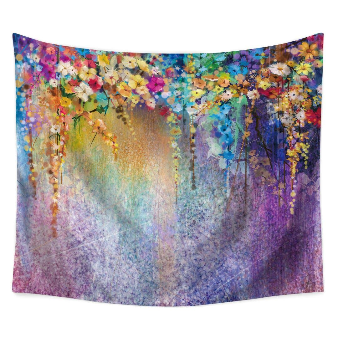PHNAM Bohemian Colorful Dream Catcher Tapestry 59 × 79 Inches Large Wall Hanging for Bedroom Living Room Decor (O)
