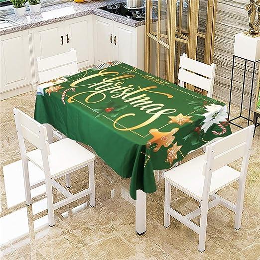 SONGHJ Mesa de Comedor navideña de algodón poliéster Mantel ...