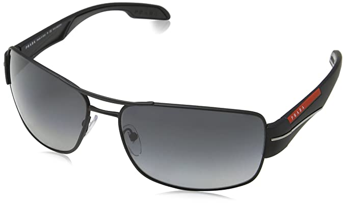 11ffb2898f Prada Linea Rossa Men s 0PS 53NS Black Rubber Polarized Grey Gradient One  Size