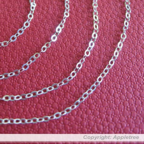 Sterling Silver Chain 2mm 20FT Italian cable chain sold in bulk making necklace