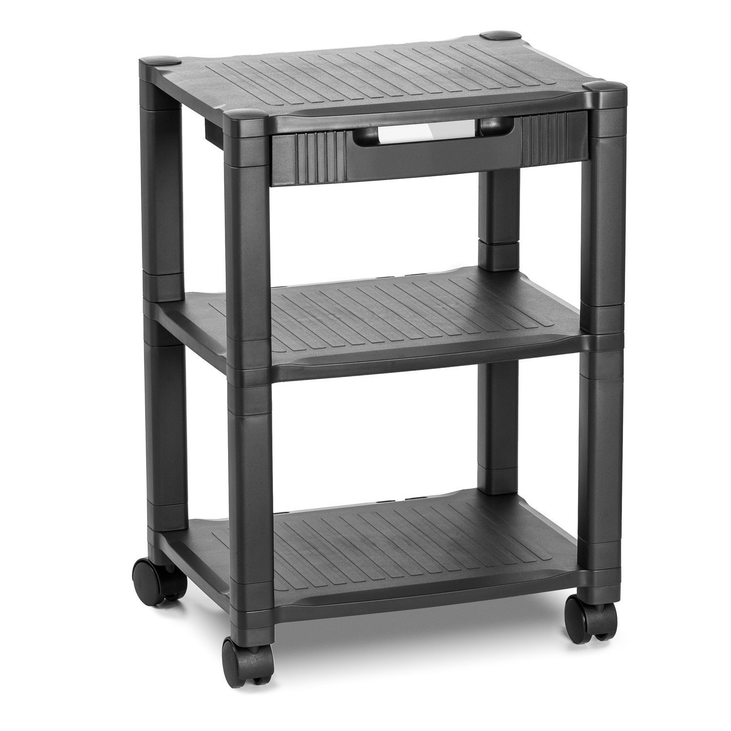 Halter LZ-308 Rolling Printer Cart Machine Stand with Cable Management 2 Pack Holds Up to 75 Pounds Black