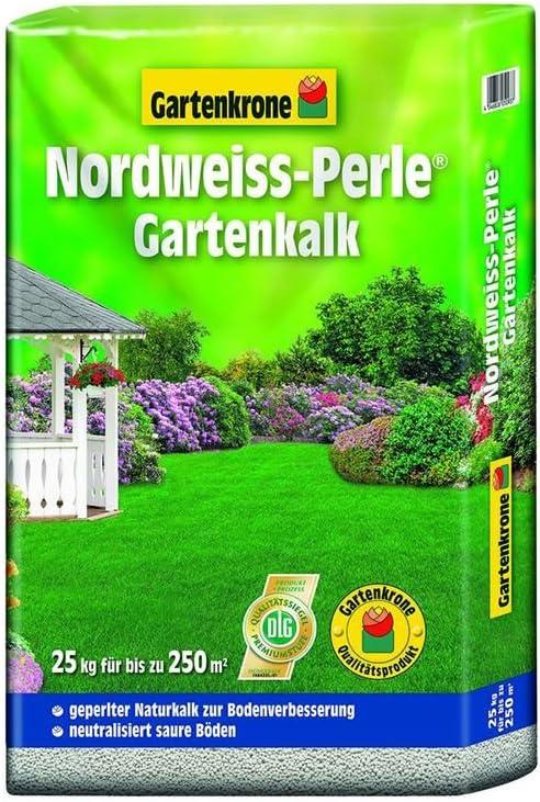 Jardín cal Original del Norte de blanco perla 25 kg Jardín Corona: Amazon.es: Jardín
