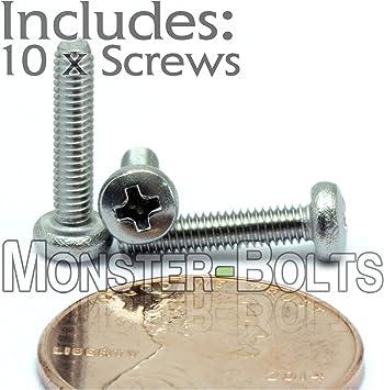 M3 12mm Metric Cross Pan Head Stainless Steel Screw Bolt Pack of 30