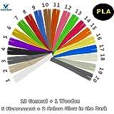 VICTORSTAR @ PLA 3D Stylo Linéaire Filament Recharge 20 Couleurs - 200 Mètres (656.2ft) / Couleurs Bonus 1 en Bois + 2 Brillent dans le Noir + 5 Fluorescent / Diamètre 1.75mm / Matériel Végétal de Résine et Aucune Odeur de Mieux pour la Santé