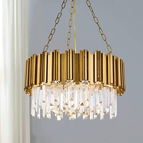 A1A9 Modern Round Crystal Chandelier Lights Luxury Pendant Ceiling Light Contemporary Raindrop Chandeliers Lighting Fixture
