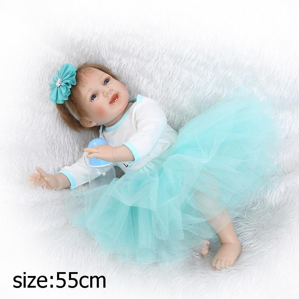 chinatera Little Girls Toy NPK Lovely Realistic Simulation Reborn Doll Soft Silicone Lifelike Artificial Kids Cloth Dolls by chinatera (Image #5)
