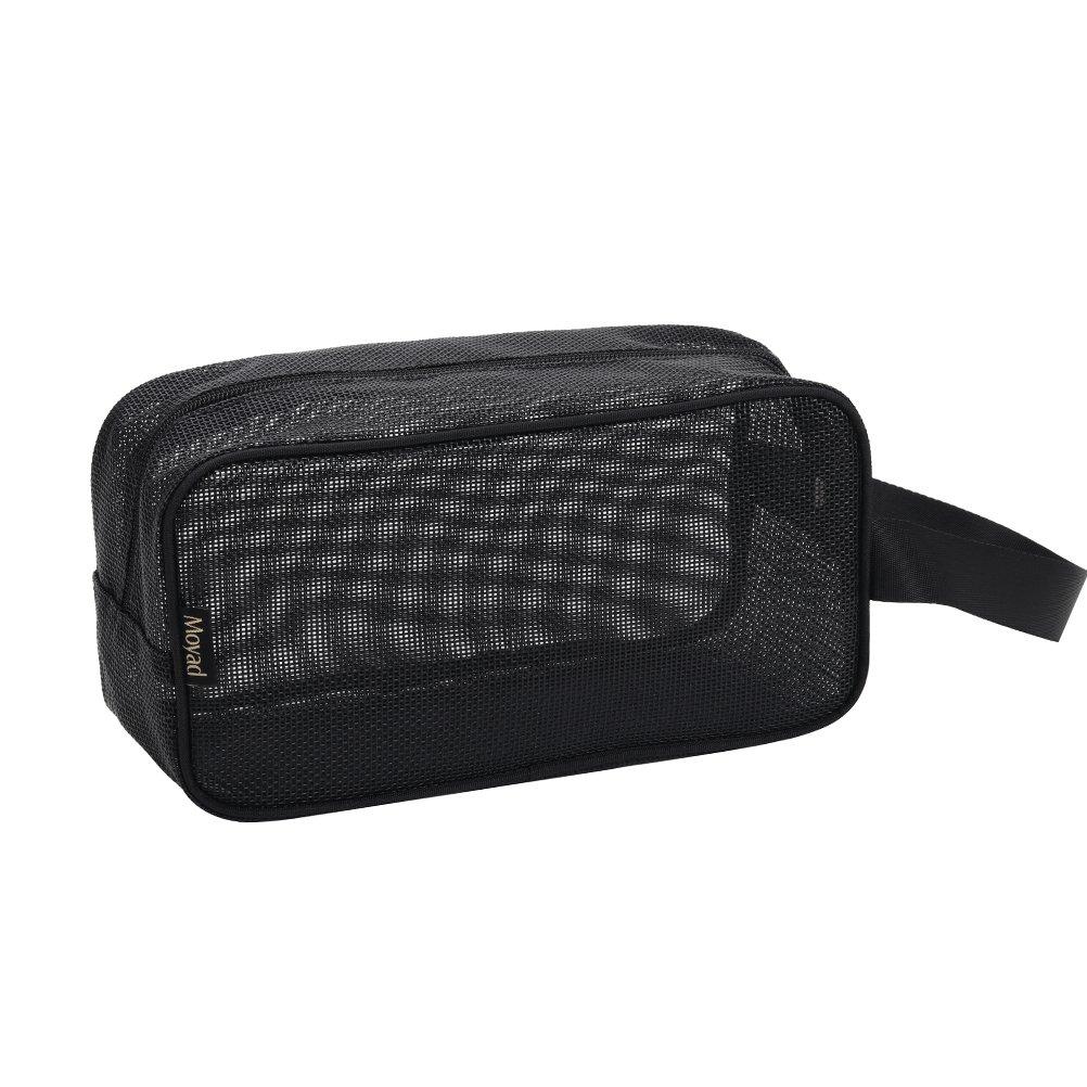 Moyad Mesh Shower Caddy Portable Toiletry Tote Gym Bag for College Dorm Bathroom (Black)