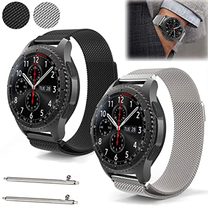 EEEKit Stainless Steel Replacement WatchBand for Samsung Gear S3 Frontier/C?lassic, Adjustable Loop Strap for Gear S3 R380 R381 R382 Smart Watch