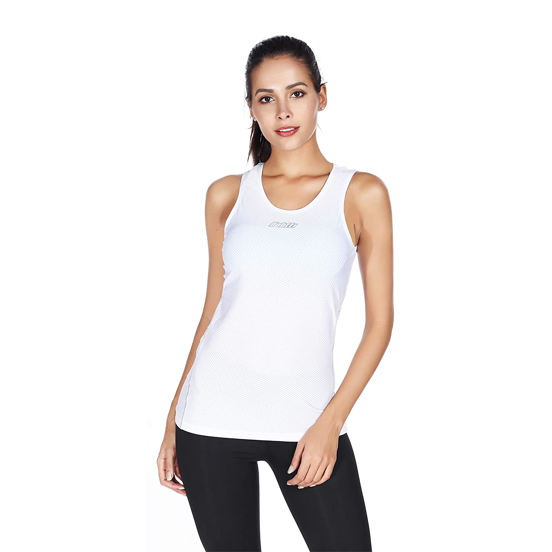 Bpbtti Women's Sleeveless Cycling Undershirt Quick Dry Bike Base Layer Biking Vests Breathable Sports Tops