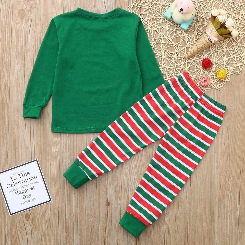Christmas Family Matching Pajamas Set Santas Sleepwear The Family Boys Girls
