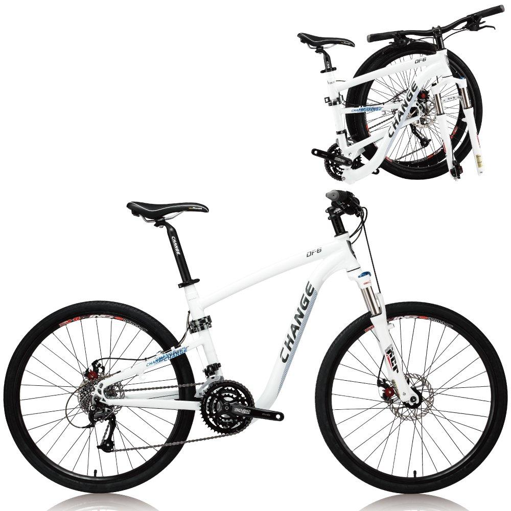 Change 26インチ軽量フルサイズ MTB折りたたみ自転車 Shimano 27スピード DF-609D-W B072585C3X19\