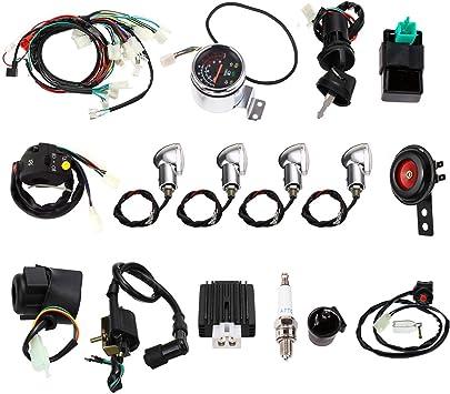 Amazon.com: Annpee Full Electric Start Engine Wiring Harness Loom 110cc  125cc Quad Bike ATV Buggy: AutomotiveAmazon.com