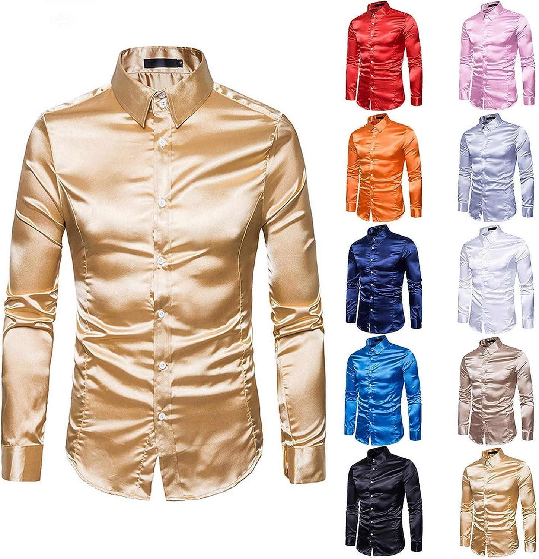 disiren Personalized Pattern Print Dress Shirts Long Sleeve Slim Casual Blouses Fashion