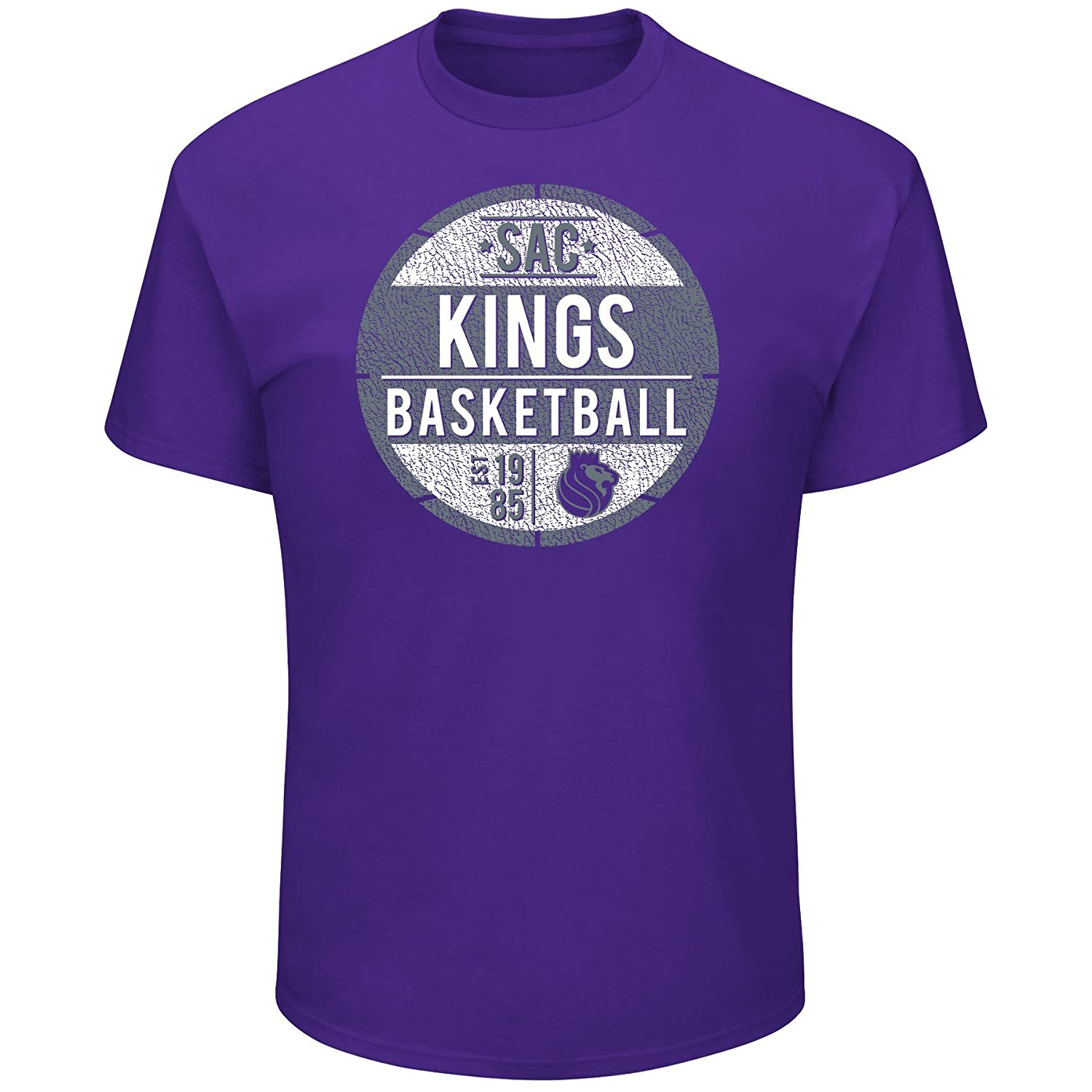 NBA Sacramento Kings Short Sleeve Screen Tee Purple X-Large//Tall