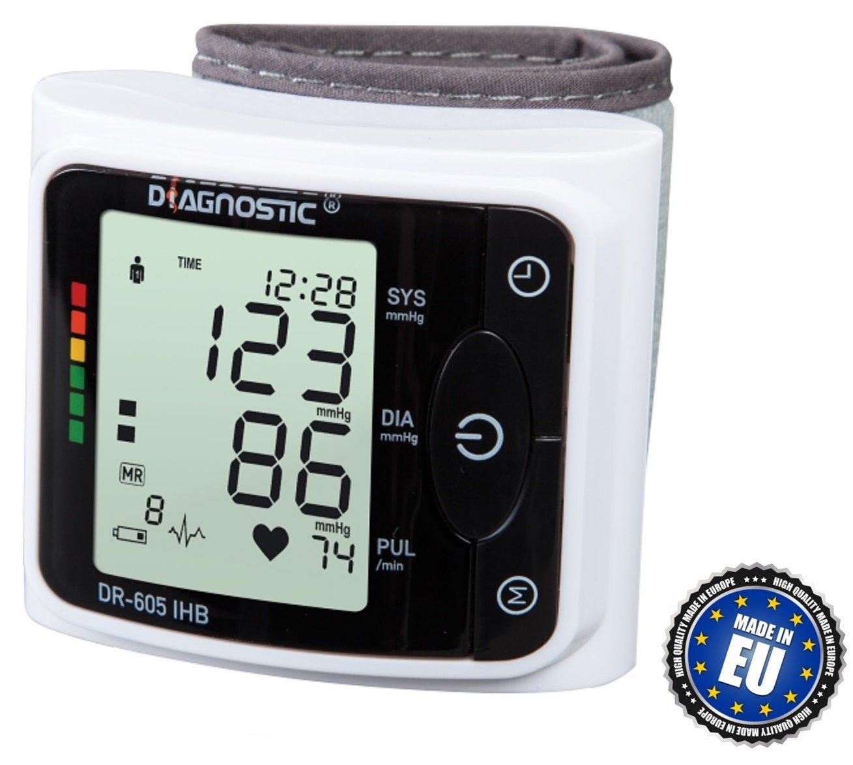 DIAGNOSTIC DR-605 IHB Monitor de presión arterial digital completamente automático del reloj con el indicador irregular del latido del corazón: Amazon.es: ...