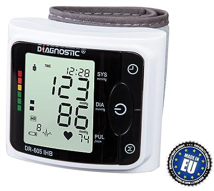 DIAGNOSTIC DR-605 IHB Monitor de presión arterial digital completamente automático del reloj con el
