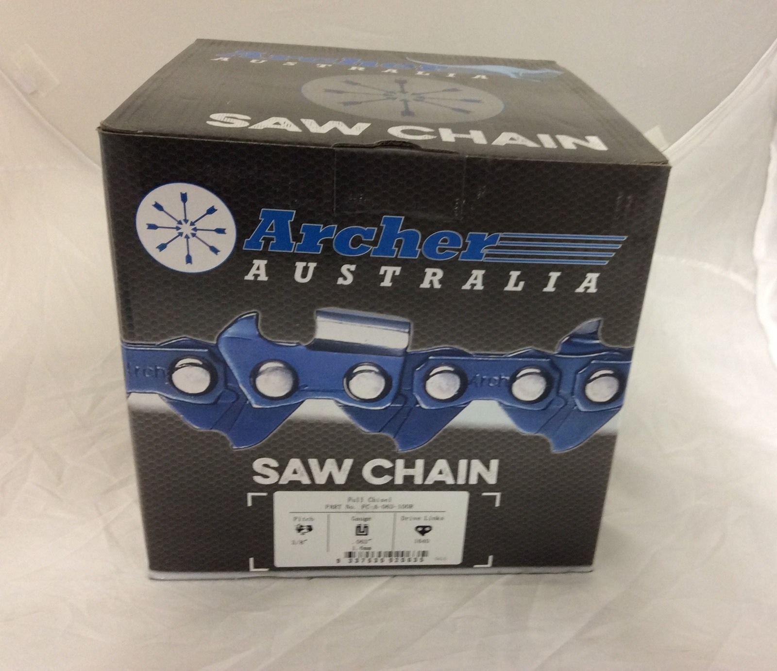 Archer Chainsaw Chain 100ft Roll 3/8'' .063 Chisel Chainsaw Chain