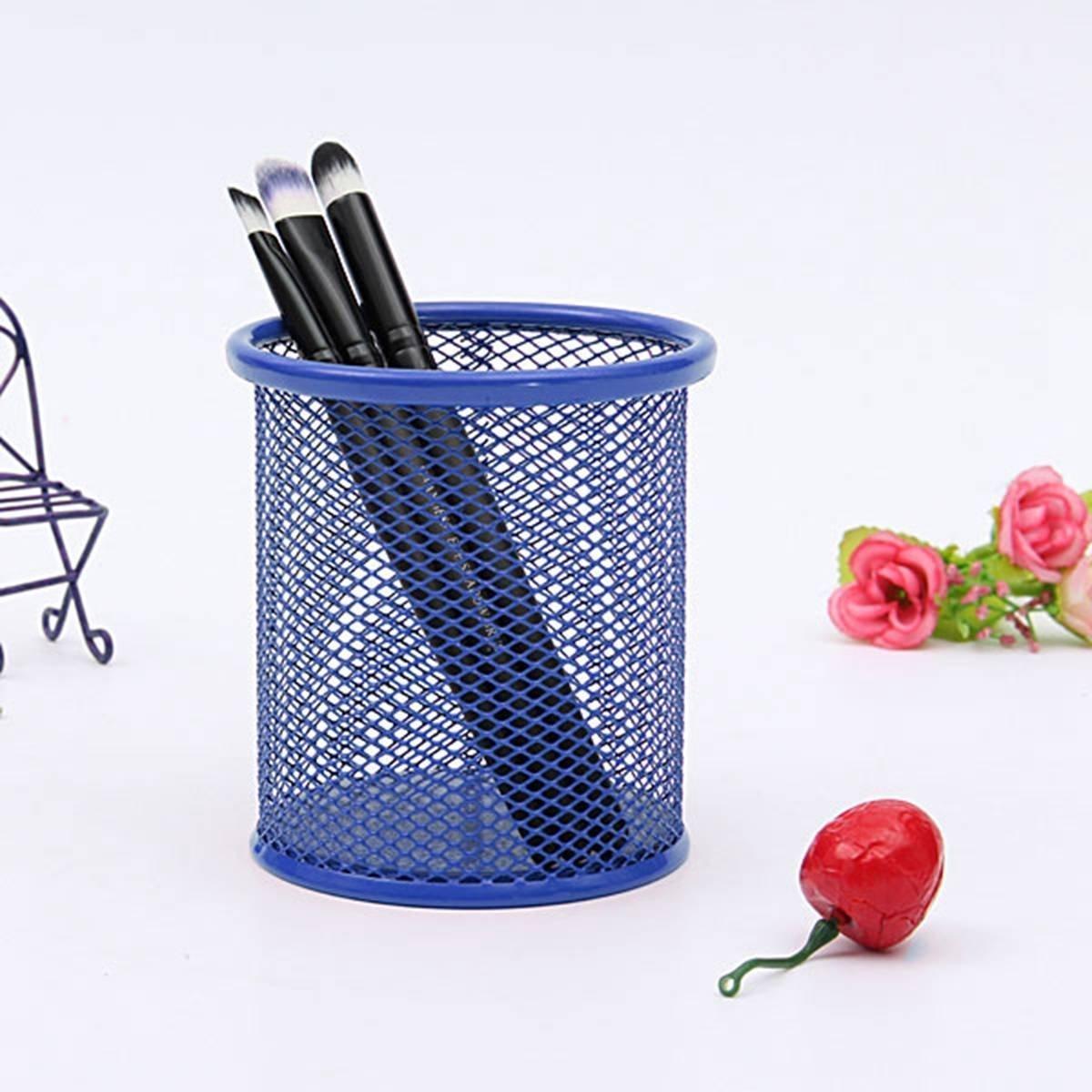 Wonque portapenne Rotondo in Metallo con griglia per riporre Penne e matite 1 Pezzo