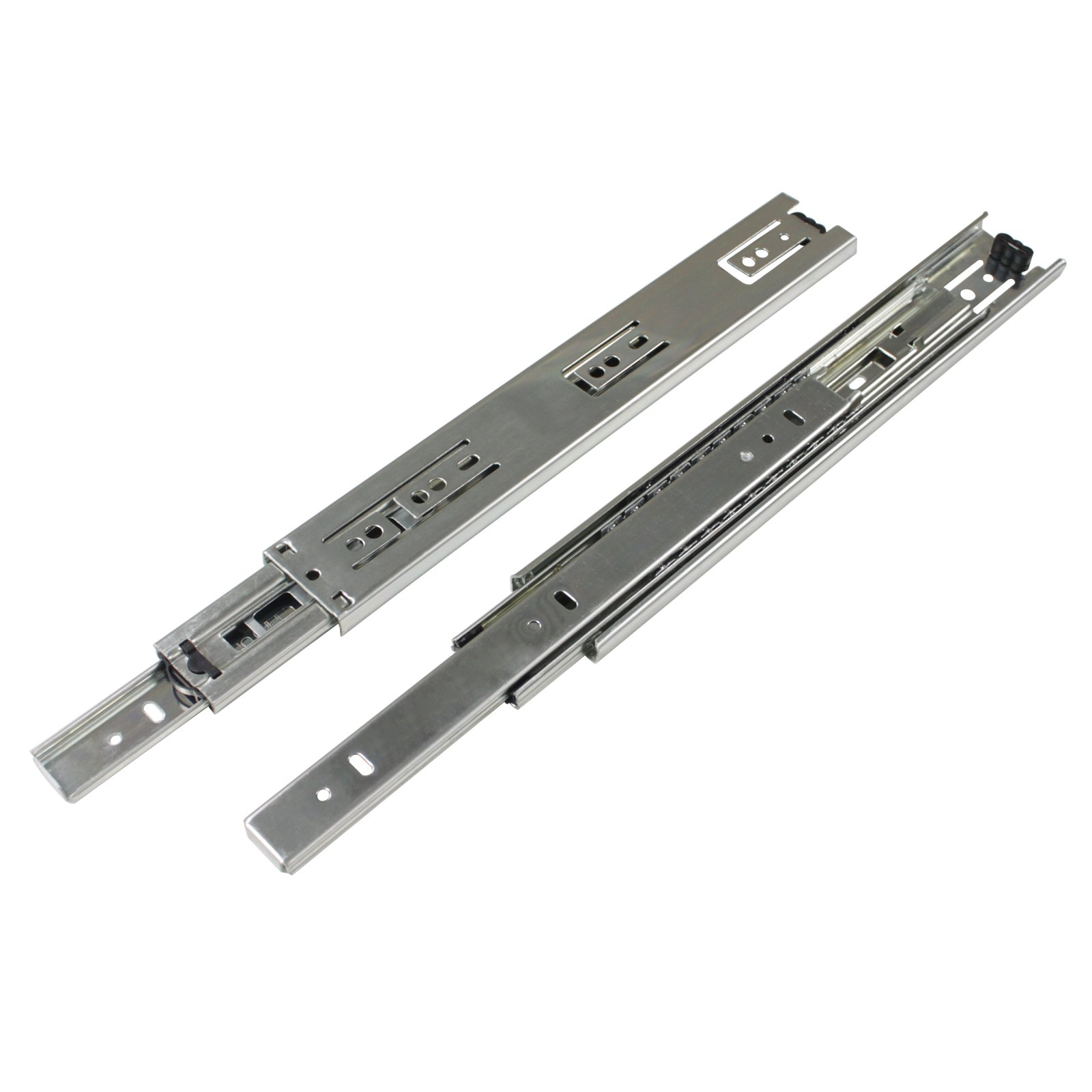 2 Pairs 22 inch Full Extension Side Mount Drawer Slides 3-Folds Ball Bearing Heavy Duty 100 lb Thickness:1.01.01.2mm by Probrico (Image #6)
