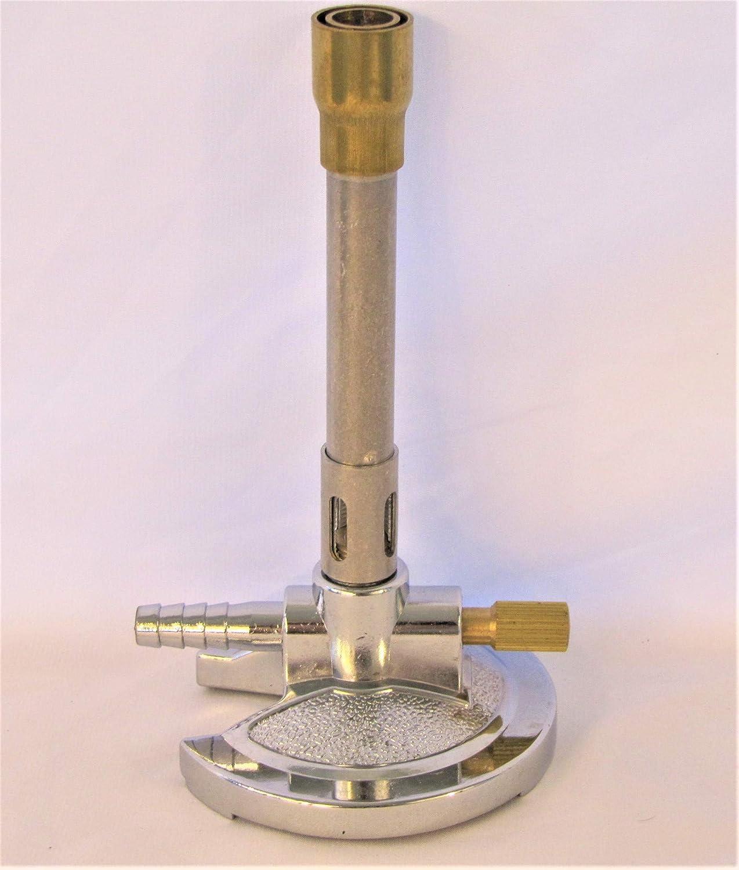 Laboratorio Mechero Bunsen con ajuste de aire y gas, para cartucho de Gas Natural Propano