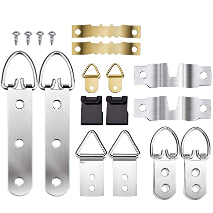 Picture Hanging Kit 136PCS Sawtooth Picture Frame Hangers Hardware ...