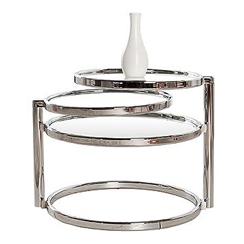 Beistelltisch glas chrom  Beistelltisch - Art Deco - Chrom/Glas - mit 3 Ebenen