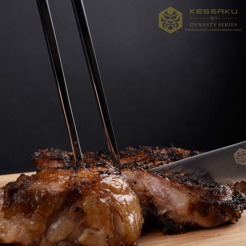 Kessaku Meat Carving Fork - Dynasty Series - German HC Steel, G10 Full Tang Handle, 7-Inch by Kessaku (Image #2)