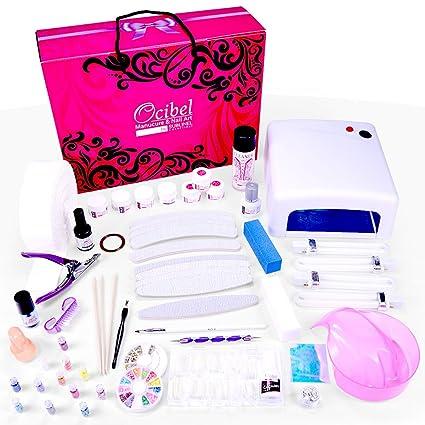 Ocibel – Kit XL falso uñas manicura 36 W Gel UV – 3 etapas Navidad –