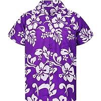 Original King Kameha   Funky Camisa Hawaiana Señores   XS-12XL  Manga Corta Bolsillo Delantero   impresión De Hawaii…