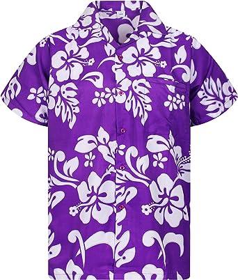 Original King Kameha | Funky Camisa Hawaiana Señores | XS-12XL |Manga Corta Bolsillo Delantero | impresión De Hawaii| Hibisco: Amazon.es: Ropa y accesorios