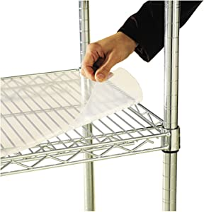 Alera ALE Shelf Liners For Wire Shelving, Clear Plastic, 48w x 18d (Pack of 4)