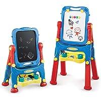 NextX Pizarra Magnetica Infantil de Altura Ajustable de Doble Cara - Tablero de Dibujo de Tablero y Pizarra de Borrado…