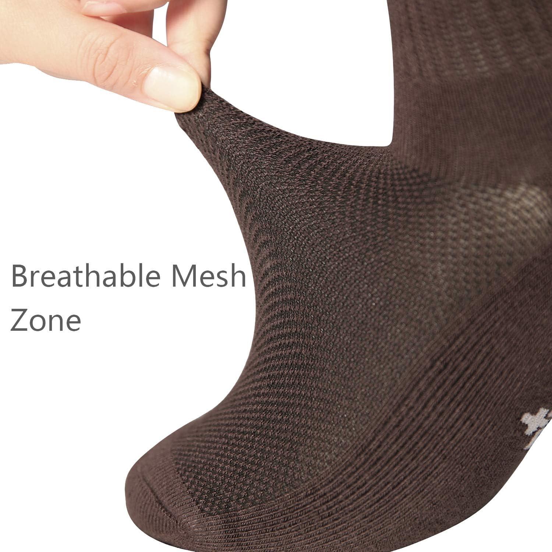 +MD 4 paia di calzini sportivi da donna con calzettoni in bamb/ù per fitness tennis tutti i giorni jogging
