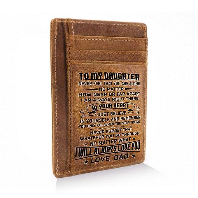 Amazon.com: Cartera de bolsillo grabada para hombres ...