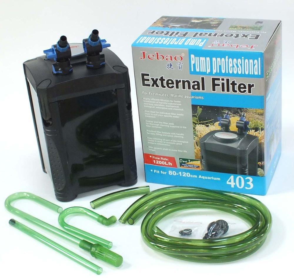 Jebao aquarium external fish tank filter review - Jebao External Aquarium Filter 20w 1200 Lph One Touch Prima 3 Media Baskets Amazon Co Uk Pet Supplies
