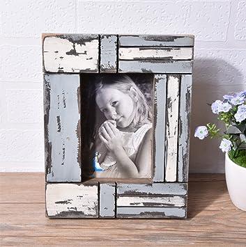 weiwei Marco de fotos madera sólida creativo, Retro lo viejo Portaretrato decorativo-B: Amazon.es: Hogar
