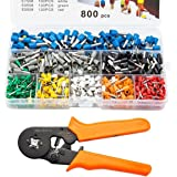 Soosee Ferrule Wire Crimper Tool HSC8 6-4 0.25-6mm AWG 23-10 with 800pcs Terminal Connector