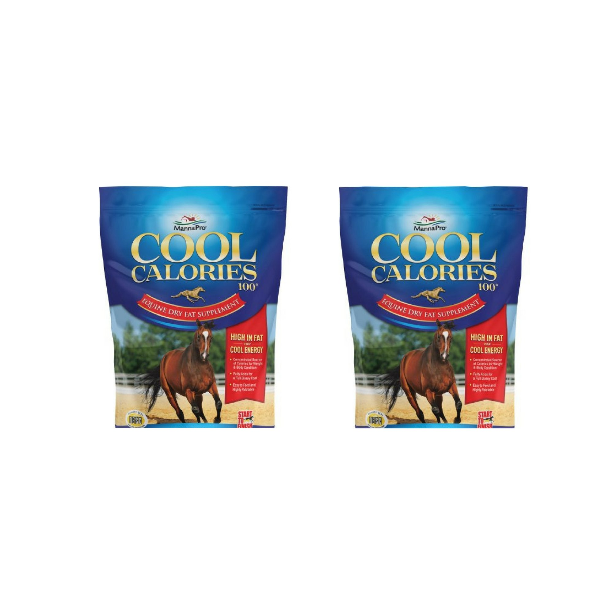 Manna Pro Start to Finish Cool Calories 100, 8 lb - 2 Pack
