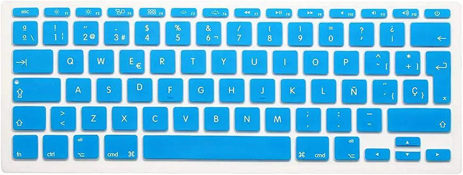 New Silicone Spanish Letter Keyboard Cover for MacBook Air 11.6 Inch A1465 A1370 Protector for MacBook Keyboard Spanish Spain EU-White