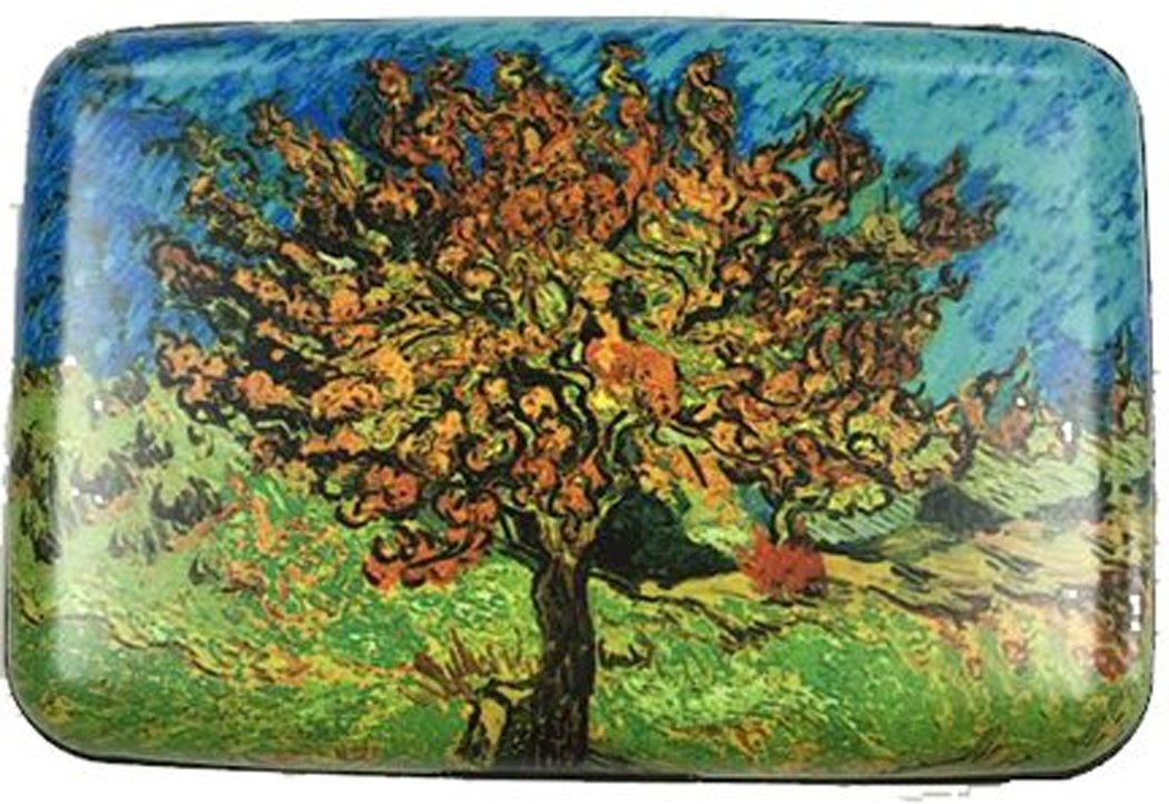 RFID Secure Armored Wallet - Fine Art 4, Mulberry Tree