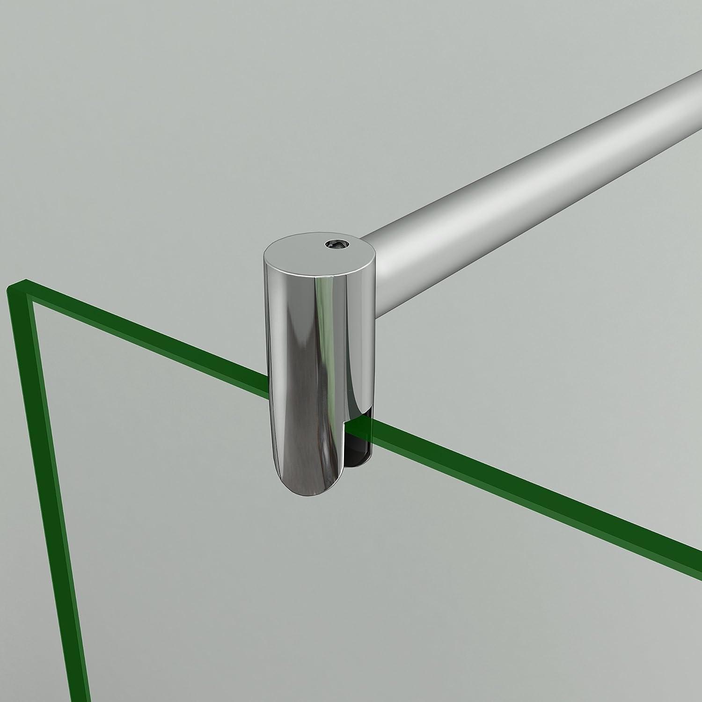 Barra de/Fijaci/ón Telesc/ópica Redonda 70cm a 120cm Extensible para Mamparas de Ducha