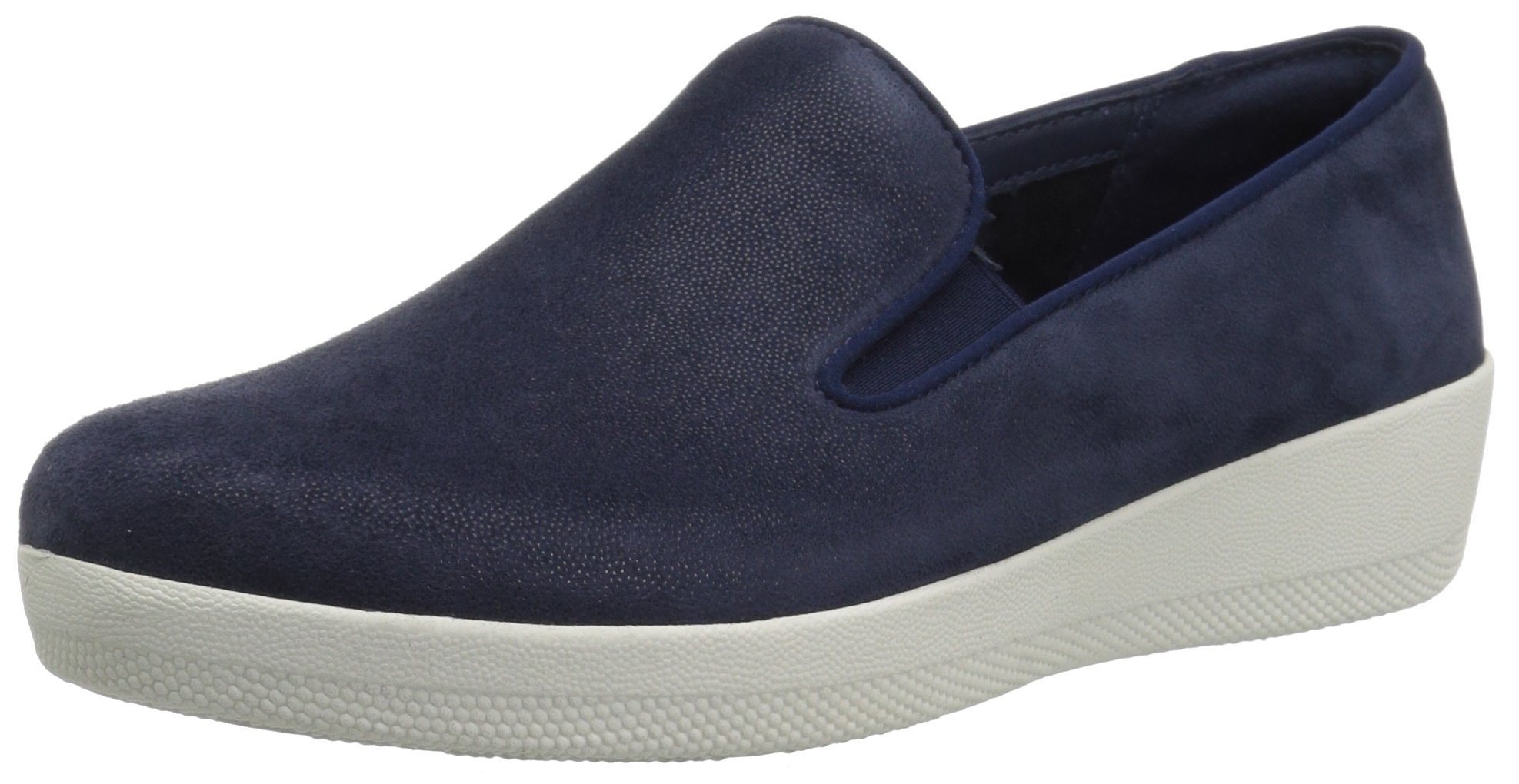 FitFlop Women's Superskate Loafer Flat, Midnight Navy, 7.5 M US