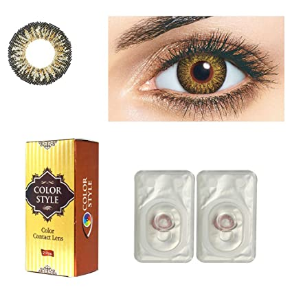 64cd9339612 Buy Color Style -Monthly - HONEY Colored - Contact Lenses   eye lens - 0  Power by T R LENS Online at Low Prices in India - Amazon.in