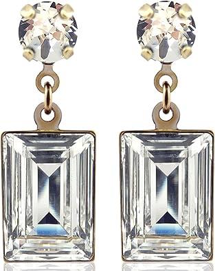 Ohrringe mit Kristalle von Swarovski® Gold Viele Farben NOBEL SCHMUCK