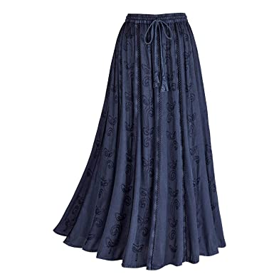 """8df090f5da Image Unavailable. Image not available for. Color: CATALOG CLASSICS Women's  Over-Dyed Maxi Skirt - Elastic Waistband - 36"""" Long -"""