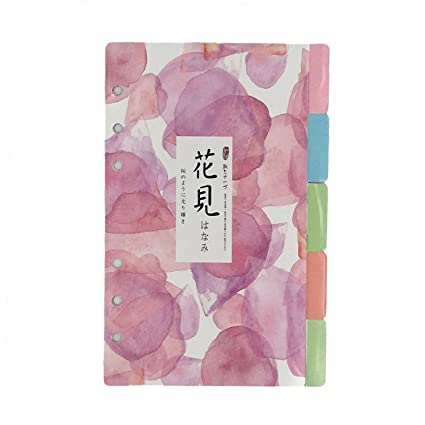 chris wang elegant colorful fresh style category page day planner divider index page tab cards