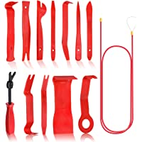 Sukudon 13 pcs Herramienta de Desmontaje de Extracción Coche Herramientas Kit para Desmontar el Salpicadero de Radio y…